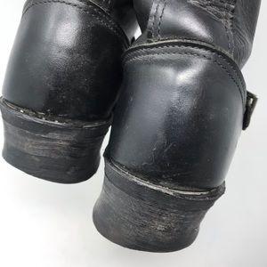 Frye Shoes - Frye Black Motorcycle Engineer Moto Boots USA
